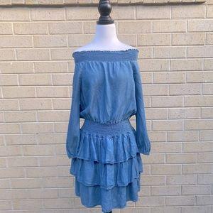 Michael Kors Off Shoulder Ruffle Dress S AU10-12